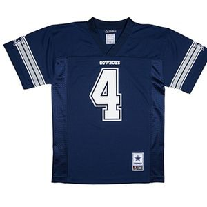 Boys 8-20 Dallas Cowboys Dak Prescott Replica Jers